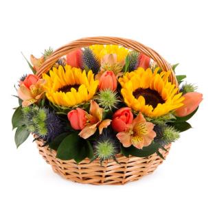 """Цветы в корзинке """"Солнечный день"""""""